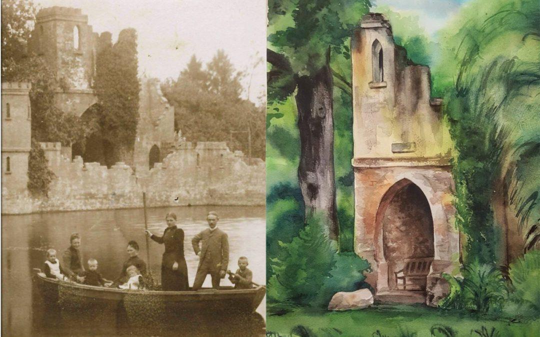 Bilderernte: Breidings Garten in Sepia und Aquarell