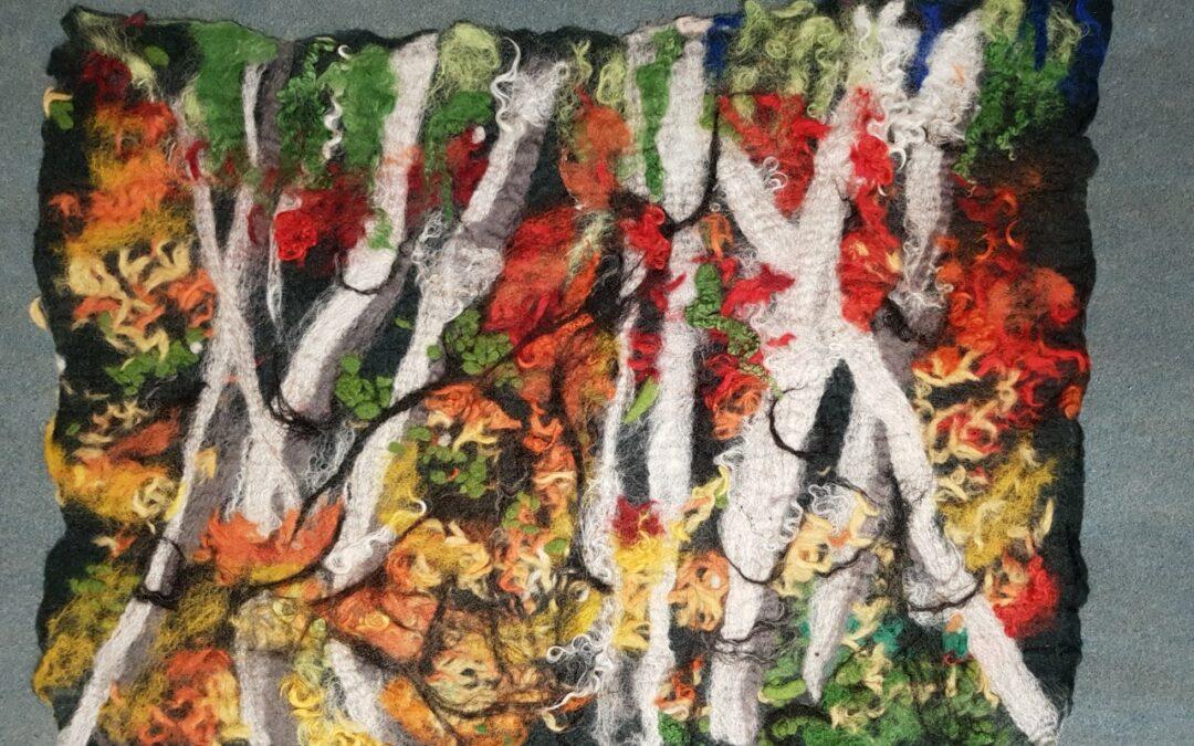 Herbstliche Farbexperimente